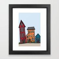 TownHouses Framed Art Print