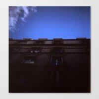 Canvas Print featuring Holga Building by istillshootfilm