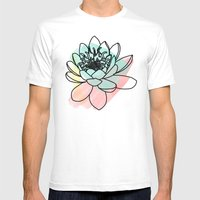 Lotus Mens Fitted Tee White SMALL
