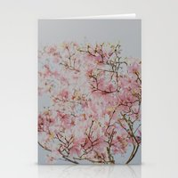 Pink Magnolias Stationery Cards