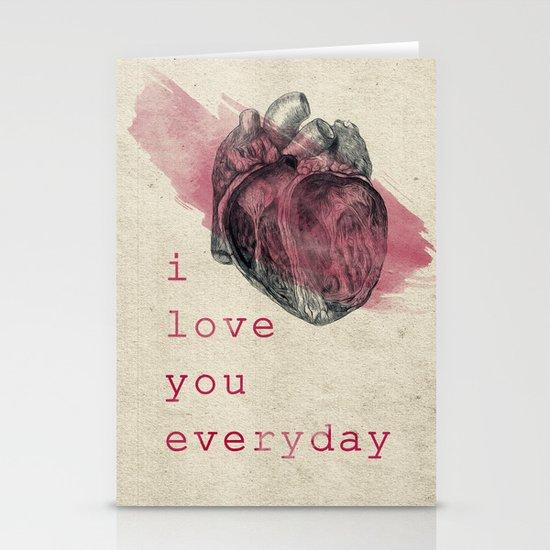 i_love_you_everyday Stationery Card