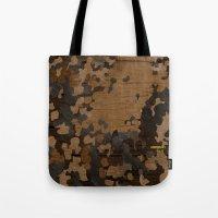 Modern Woodgrain Camouflage / Flecktarn Print Tote Bag