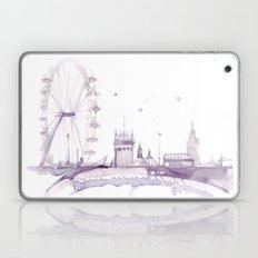Watercolor landscape illustration_London Eye Laptop & iPad Skin