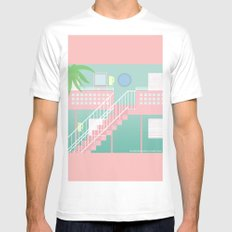 Motel Paradise Mens Fitted Tee White SMALL