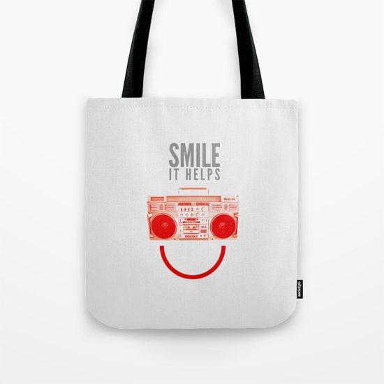 Smile. It Helps. Tote Bag