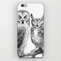 Bubo and Strix iPhone & iPod Skin