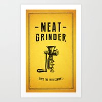 Meat Grinder Art Print