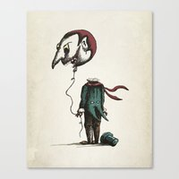 And His Head Swelled with Pride... Canvas Print