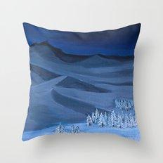 Late night on the mountain  Throw Pillow