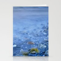Green kelp on the rock Stationery Cards