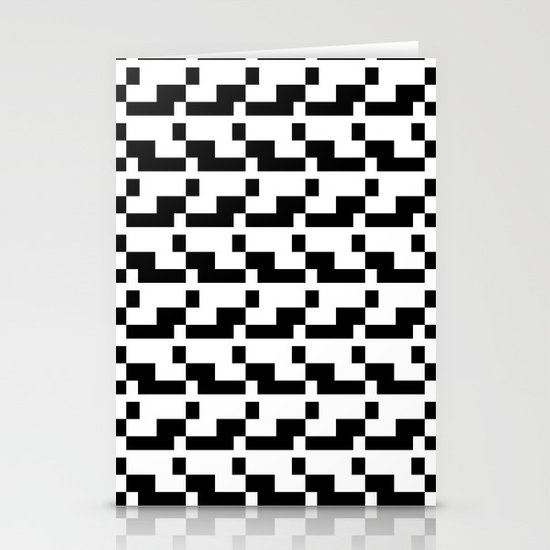 Blankaart Black & White Pattern Stationery Card