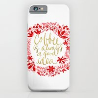 coffee iPhone & iPod Cases featuring Coffee by Cat Coquillette