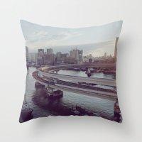 Tokyo Bay Throw Pillow