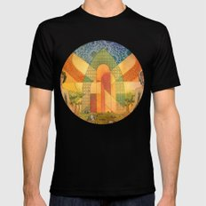 Abraham Black Mens Fitted Tee SMALL