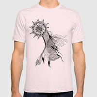 Floral dance Mens Fitted Tee Light Pink SMALL