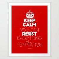 Keep Calm Resist - I Can… Art Print