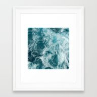 Framed Art Print featuring Sea by Studio VII