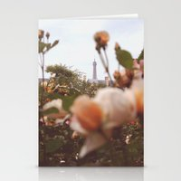 Flowers grow in Paris Stationery Cards