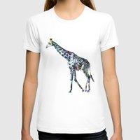 Giraffe 2 Womens Fitted Tee White SMALL