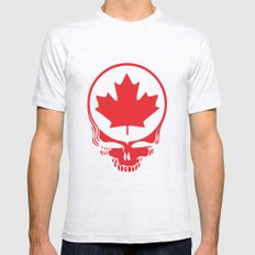 Canadian Steal Your Face (variation #2) Mens Fitted Tee Ash Grey SMALL