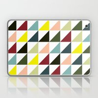 Mid-century triangles Laptop & iPad Skin