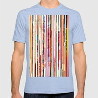 Cut Off Mens Fitted Tee Tri-Blue SMALL