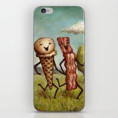 Bacon Loves Ice Cream iPhone & iPod Skin