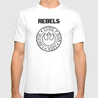 I Wanna Be a Rebel Mens Fitted Tee White SMALL