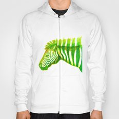 Zebra Watercolor Print Hoody