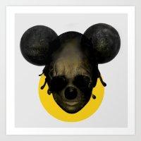 Weird Mickey Mouse Art Print