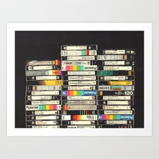 VHS Stack Art Print