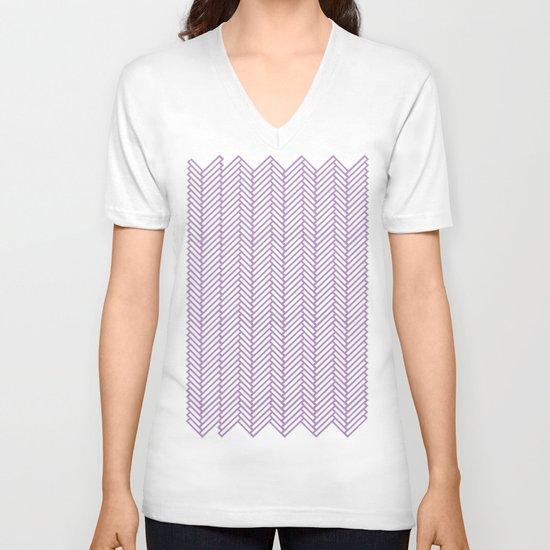 Herringbone Orchid V-neck T-shirt