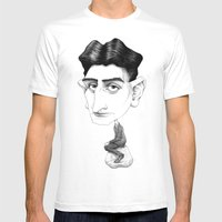 Franz Kafka Mens Fitted Tee White SMALL