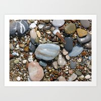 Shiny Pebbles Art Print