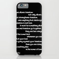 TWO WINGS OF THE SAME BIRD iPhone 6 Slim Case