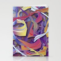 Interaction (in Purple) Stationery Cards