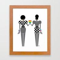 Totally In Love Girls (L… Framed Art Print