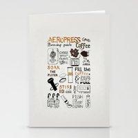 Aeropress poster Stationery Cards