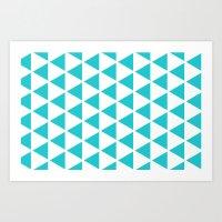 Sleyer Blue On White Pat… Art Print