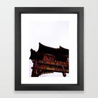 Bridge Over Chinatown  Framed Art Print