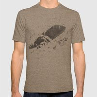 Black Plume Mens Fitted Tee Tri-Coffee SMALL