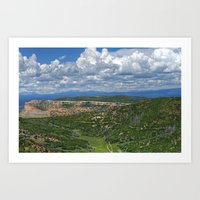 Clouds Over Mesa Verde C… Art Print