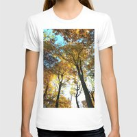 Glowing Treetop Womens Fitted Tee White SMALL