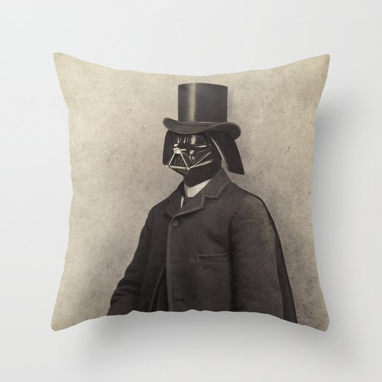 Lord Vadersworth Throw Pillow