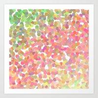 Confetti Colors Art Print