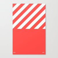 Infrared Lines / White Canvas Print