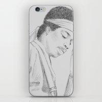Hendrix print iPhone & iPod Skin