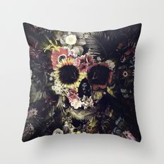 Garden Skull Throw Pillow