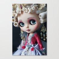 Marie antoniette Masquerade Custom Blythe doll Canvas Print