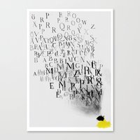 Typography And  The Blac… Canvas Print